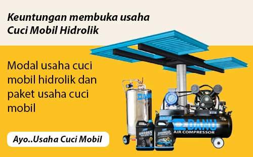 Modal Usaha Cuci Mobil Hidrolik dan Paket Usaha Membuka Cucian Mobil